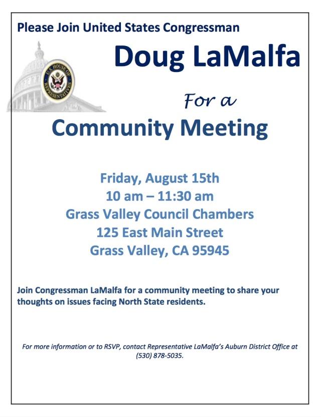 LaMalfa Community Meeting